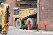 Cat 775E Dump truck at Finning UK - Cannock 2011 - IMG 6781