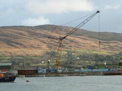Large Crawler crane on dockside