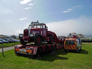 Scammell Highwayman - FNC 36F and trailer of Chris Bennett at Llandudno 08 - P5050106 edited