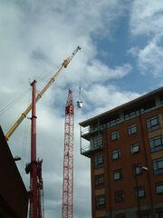 Ainscough crane errecting tower crane - DSCF0252