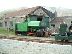 Narrow Gauge steam loco at Threlkeld