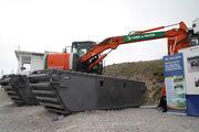 Hitachi LGP excavator of Land and Water at Hillhead 2010 - IMG 1701