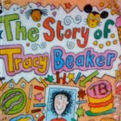 The original cover of the book, the Story of Tracy Beaker (1991)