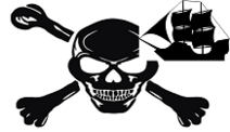 Custom Pirate Flag Small