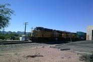 Union Pacific Locomotives approaching Main Avenue