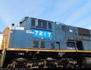 NS 7217 (Ex CSX Spirit of Benning) SD80MAC
