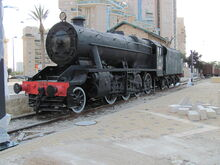 LMS Stanier Class 8F No. 70414 of Israel Railways at Beer Sheva Ottoman Railway station