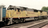 UP SD60 with CNW C40-8