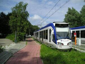 Eindpunt Meppelweg met 4050 als RR4