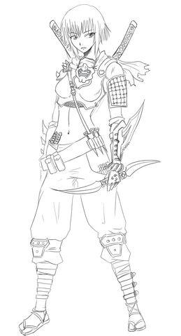 File:0263 Chloe Ninja Lineart by Agito666.jpg