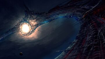 Futuristic-spaceship-painting
