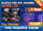 M wave1 lev25 search for skyshadow