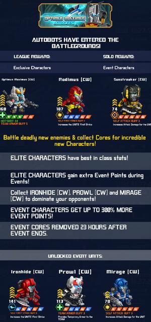 Event Optimus Maximus Awakes