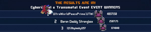 Event Transmetals 2 Episode 1 - Cybermetal Transmetal Solo Winner