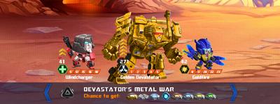 T devastators metal war x golden x