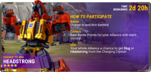 Ui event charging in info d