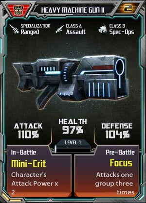 Heavy Machine Gun II Autobot