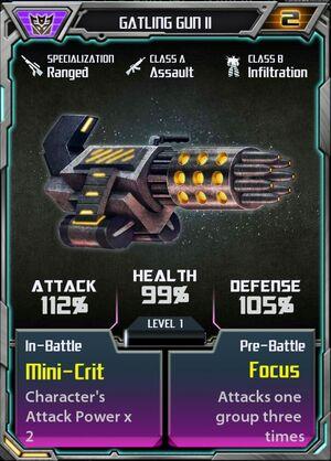 Gatling Gun II Decepticon