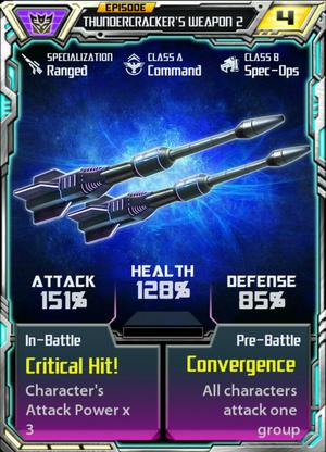 Episode thundercracker weapon