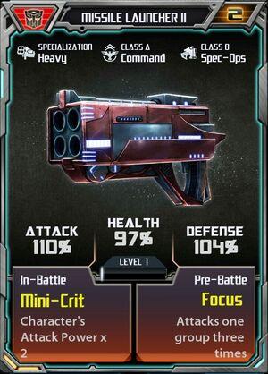 Missile Launcher II Autobot