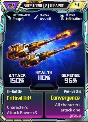Sunstorm (2) Weapon