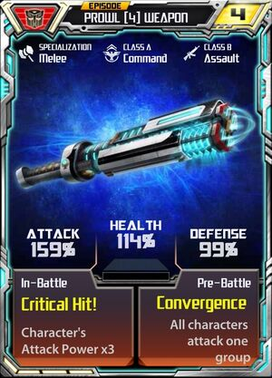 Prowl (4) Weapon