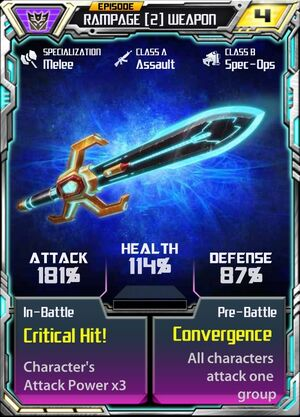 Rampage 2 CotP Weapon