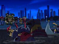TFA Blast Past Dinobots stuck