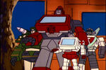 Huge Ironhide and Small Ratchet