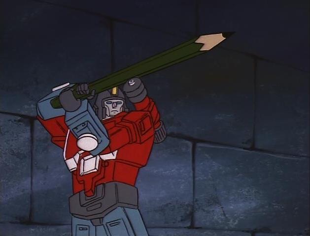 File:G1 cartoon Perceptor Pencil sword.JPG