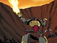Animated cartoon Grimlock energo-sword