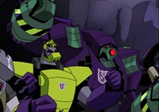 Mix, Scrapper, Blitzwing and Lugnut
