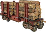 Large-flatcar-for-wood