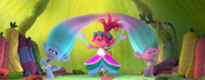 Princess Poppy trying on Dress 2