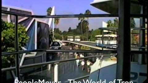 Disneyland-Peoplemover Thru the World of Tron-Sept. 1990. The Whole Ride