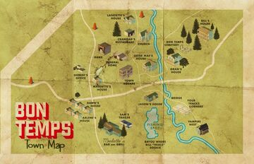 Map of bon temps