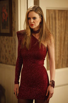 Pams red sequin fitted dress S4
