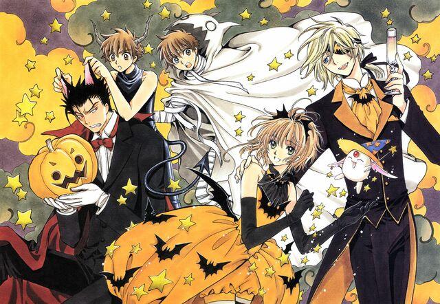 File:Clamp fay d flourite halloween kurogane mokona sakura syaoran tsubasa reservoir chronicle-205587.jpg