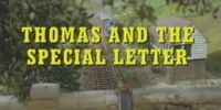 Thomas and the Special Letter