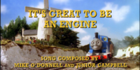 It's Great to be an Engine