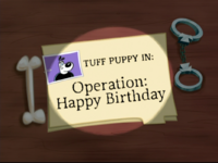 Operation Happy Birthday Title Card