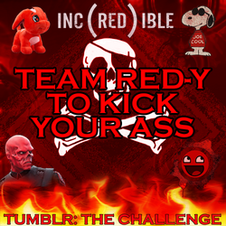 Team red-y to kick your ass flag