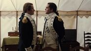 George Washington speaks with Benedict Arnold at Valley Forge