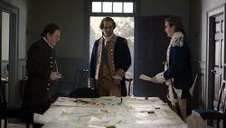 George Washington meets with Benjamin Tallmadge and Nathaniel Sackett