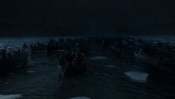 George Washington's army crossing the Delaware River in-universe