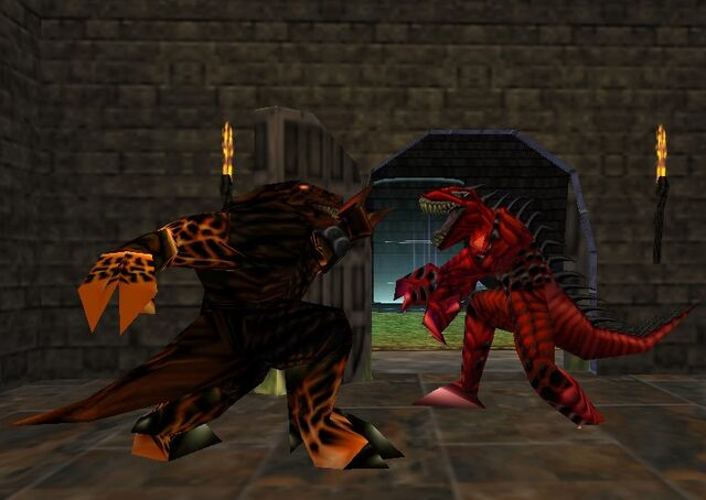 File:Turok 2 fireborn vs raptoid by armandox27-d7je27m.jpg
