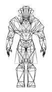 Turok Rage Wars Character Wireframe Tal'set
