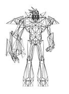 Turok Rage Wars Character Wireframe Bastille