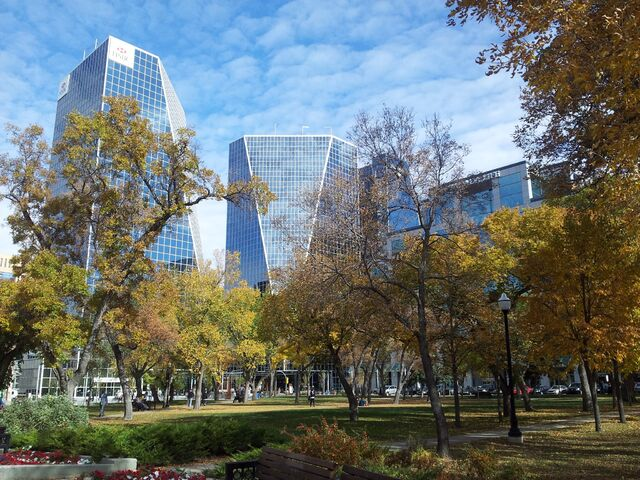 File:Buildings in Downtown Regina as seen from Victoria Park-1-.jpg