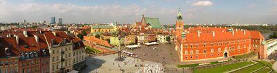 Warsaw Castle Square Panorama 2010-1-